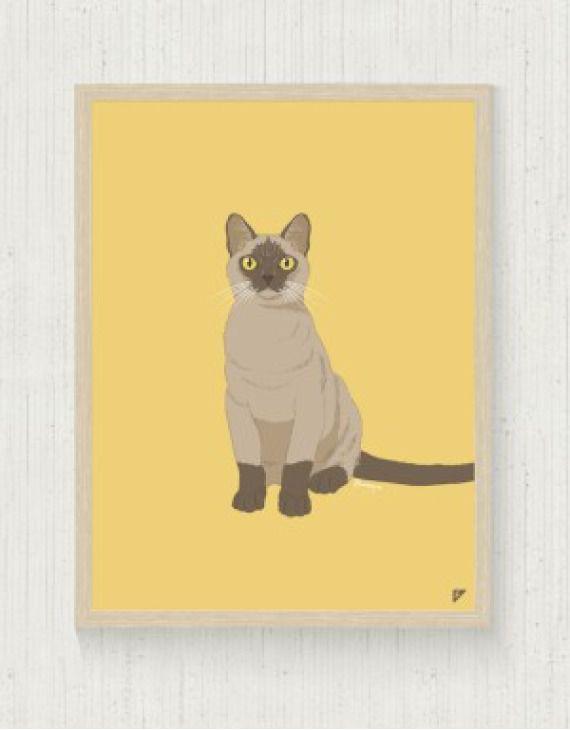 """Plakat """"Kot Burmański"""""""