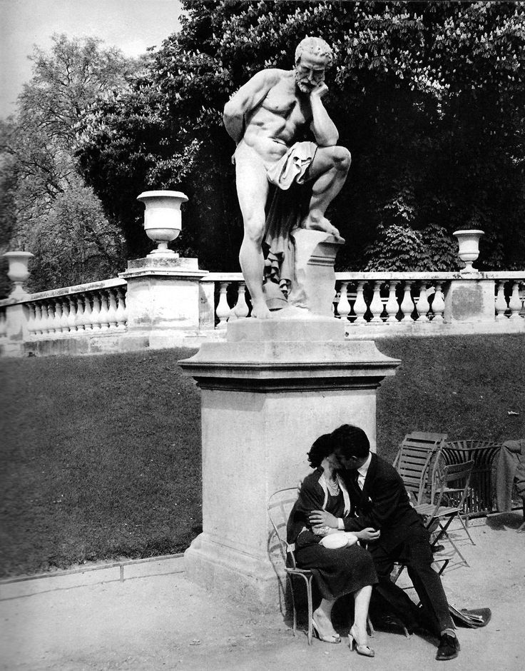 René Maltête (1930 - 2000) 'The Garden of Luxembourg', Paris, 1960.