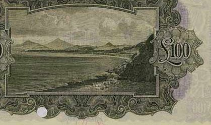 £100 'ploughman' note (reverse design - showing Killiney Bay, Co Dublin)