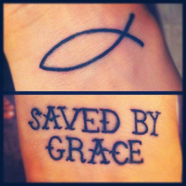 Christian word tattoos wrist