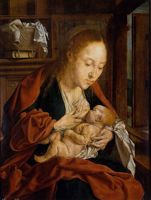 Marinus van Reymerswaele - The Virgin of the Milk