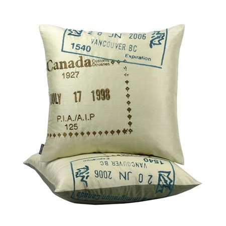 I pinned this Canada Passport Pillow from the Blissliving Home event at Joss and Main!