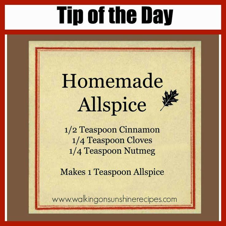 Walking on Sunshine Recipes:  Homemade Allspice