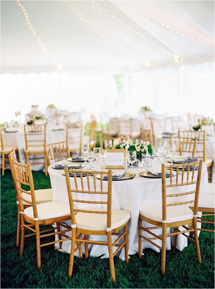 A gorgeous dusty blue, white and gold wedding at the Chesapeake Bay Maritime Museum in St. Michaels, Maryland by Eastern Shore wedding planner Kari Rider Events