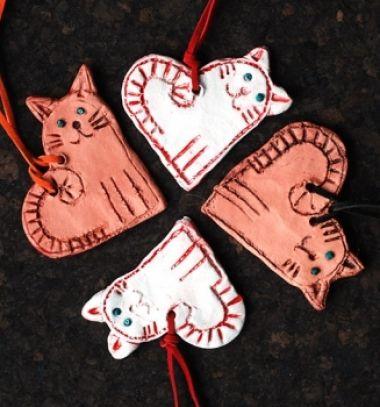 Adorable love cat necklace from clay // Szerelem cicák - szív alakú macska nyakláncok agyagból // Mindy - craft tutorial collection