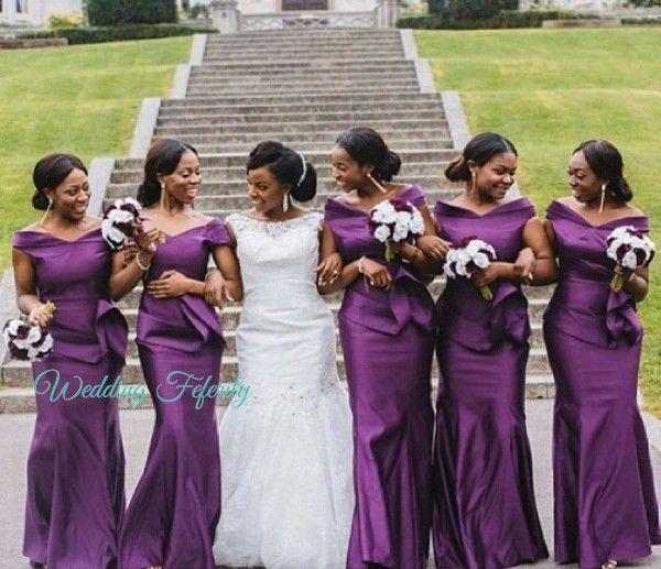 African Purple Bridesmaid Dresses