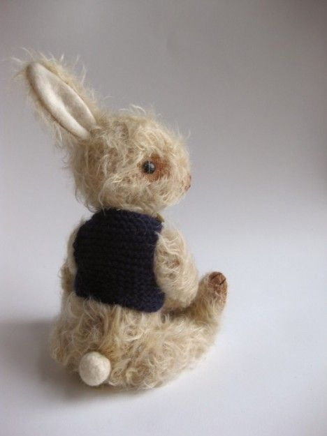 Sitting rabbit w/vest