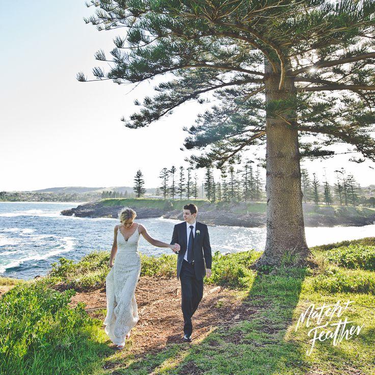 Beach wedding || Kiama, Sydney. || DOMINIC LONERAGAN || Match + Feather wedding photography