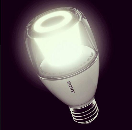 Lighting up innovation. (#Sony LED Bulb Speaker) via Sony on Instagram