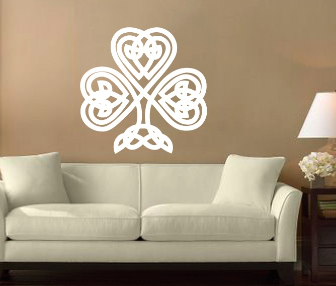 Celtic Tree Wall Decal 24 Floral Leaves Shamrock Irish Home Decor
