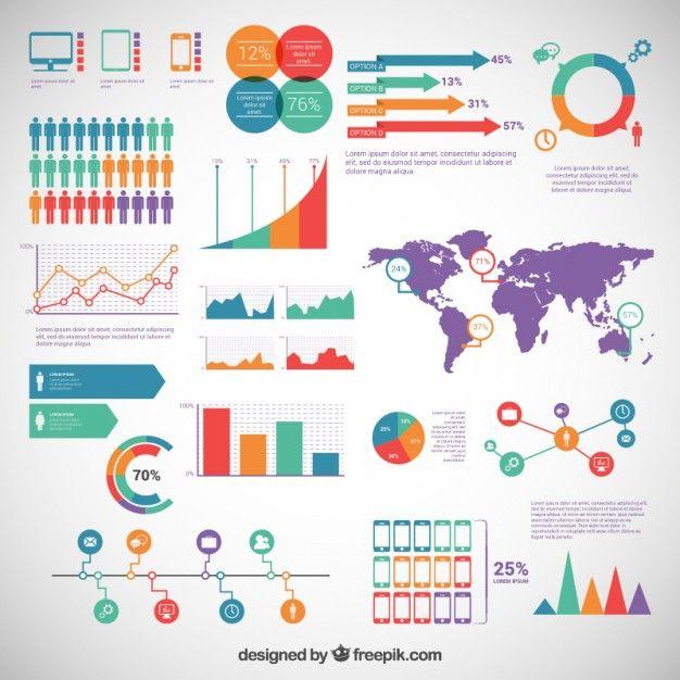Éléments infographiques emballent Vecteur gratuit                                                                                                                                                                                 Plus
