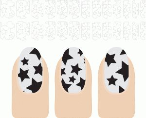 Silhouette Online Store: nail design stars (make nail art with your Silhouette!)  {now 30% off until the end of July}