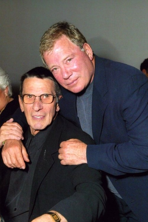 Lifelong friends: Leonard Nimoy and William Shatner began playing Spock and Captain Kirk on Star Trek in the 1960s.
