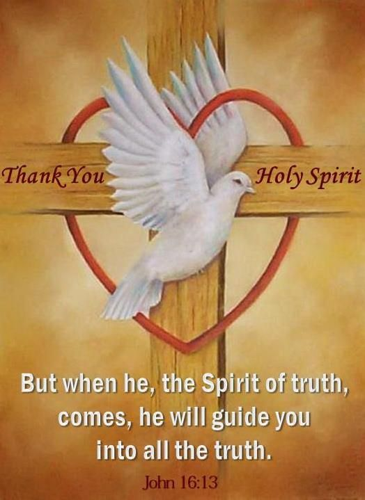 John 16:13 But when he, the Spirit of truth, comes he will guide you into all the truth.