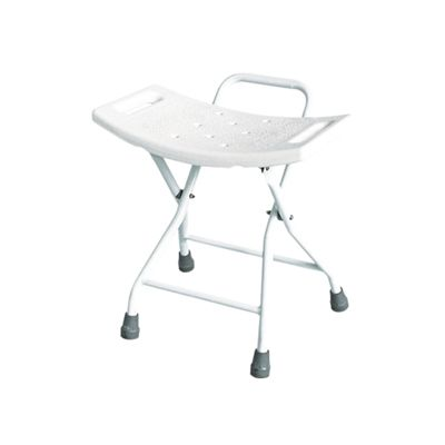 This space-saving Folding Shower Chair is an ideal solution if space is at a premium. The steel tube frame is powder coated to prevent corrosion and the anti-slip rubber feet aid safety and stability. The blow molded HDPE seat has been designed with built-in handles and drainage holes. The chair folds easily for storage.