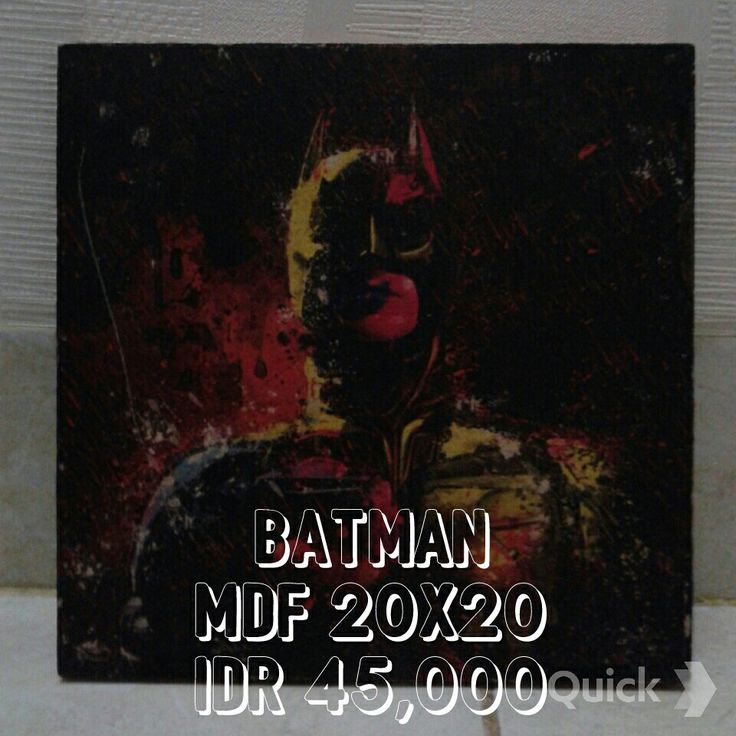 Poster on MDF board Batman MDF 20x20