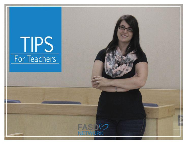 FASD Tips  & Strategies for Teachers #FASD