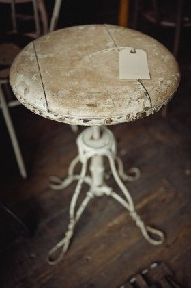 Little White Stool - I LOVE this! This is an item I would bring home without giving it a second thought...worry about where it goes later!
