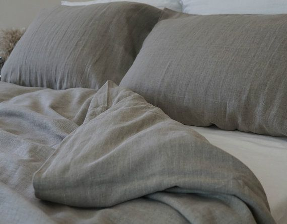 Our all time best seller, natural linen duvet cover in dark shades, 100% natural bedding, NO DYE, NO COLORING, medium weight linen fabric (about 7oz/sq. yard). The prewashed linen fabric give it a soft feel and enhanced durability, so you enjoy your bedding for much longer. Handmade from heavy rustic linen! ~~~~~~~~~~~~~~~~~~Customer Reviews~~~~~~~~~~~~~~~~~~~~~ Really well made duvet cover and shams. Ive never had natural linen anything before, and Im really enjoying the texture and…