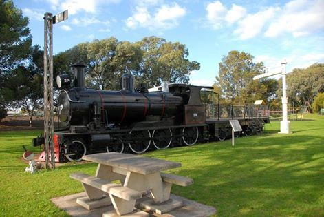 photo by Robert Sweet of South Australian Railways 4-6-0 No. Rx 201 displayed in Tailem Bend, SAUS, Australia.
