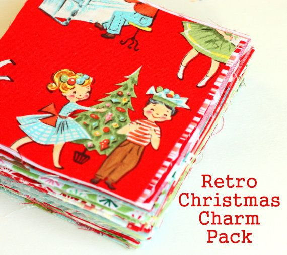 Retro Christmas Charm Pack & Quilt Pattern by AmySmart on Etsy