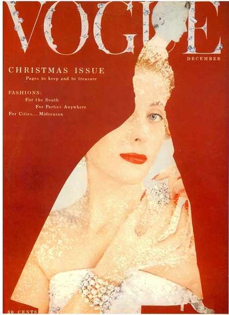 Vogue-December 1953    Cover:Designer by Cecil Beaton.