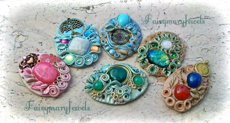 Artisan clay jewels