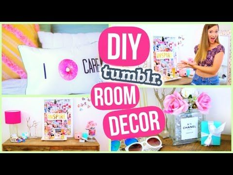 DIY Room Decor! Tumblr Inspired Room Decorations! - YouTube-- BEST VIDEO EVER ALISHA!!! VERY TUMBLR ROOM DECOR AND TOTALLY DOING THESE FOR MY ROOM!!