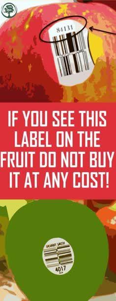 Die meisten von uns wissen nicht, dass die Aufkleber auf den Obst- und Gemüsesorten …   – DE TODO UN POCO
