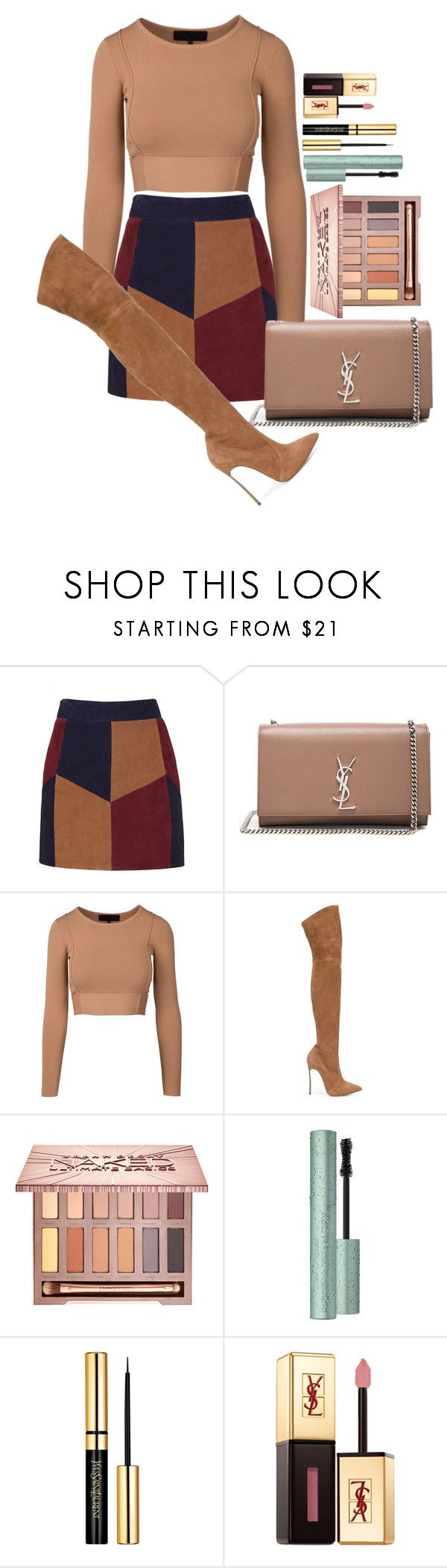 """""""Untitled #1660"""" by fabianarveloc on Polyvore featuring LaMarque, Yves Saint Laurent, Casadei, Urban Decay and Too Faced Cosmetics"""
