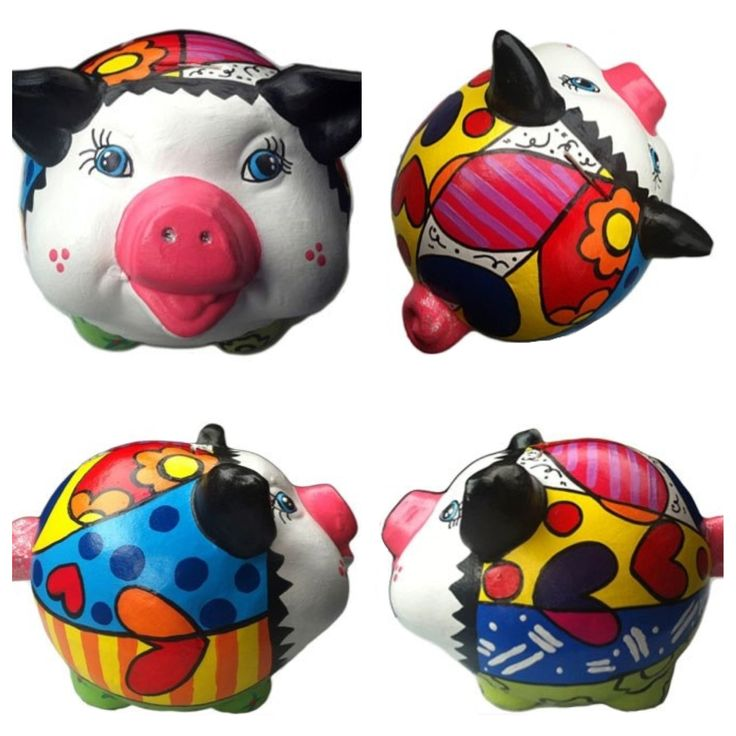 Dile a esa persona cuánto la amas con una alcancía de #Britto #Love #Color #Paint #Pig #Bank #Money #Save