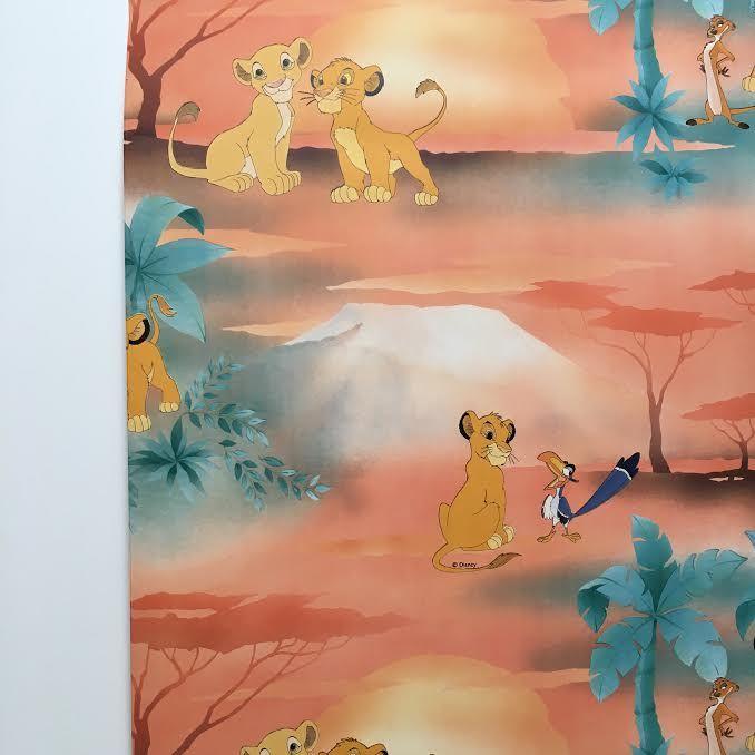 Orangevertevintage — Rouleau Papier Peint 90s Le Roi Lion Neuf Disney