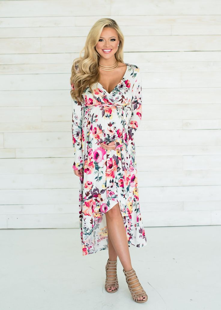 Boutique, Online Boutique, Women's Boutique, Modern Vintage Boutique, Dress, White Dress, Floral Dress, Hi Low Dress, Cute, Fashion
