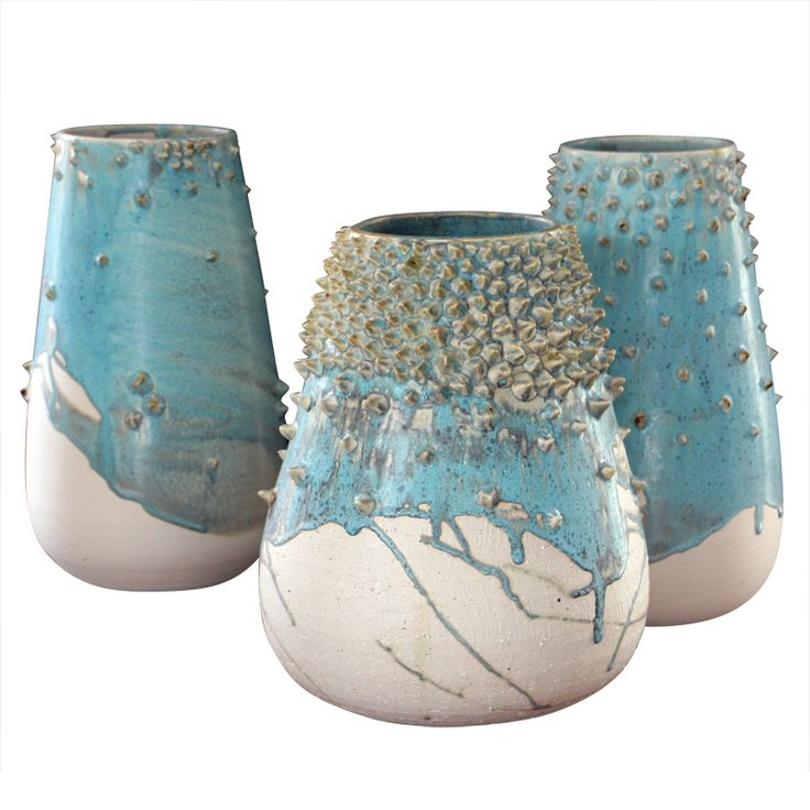 """Brought to you by http://www.etsy.com/shop/UncommonRecycables """"Ceibas"""" ceramic vases by Adriana Diaz de Cossio, Mexico, 2012"""