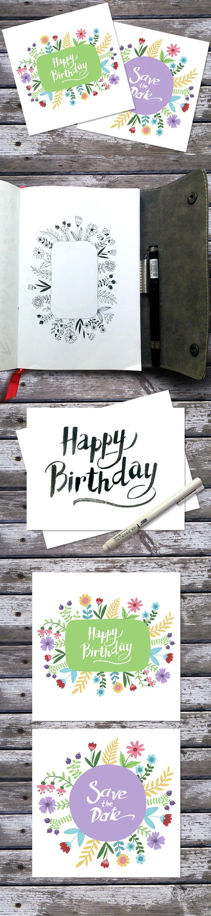 free printable funny0th birthday invitations%0A Happy Birthday invitation card on Behance