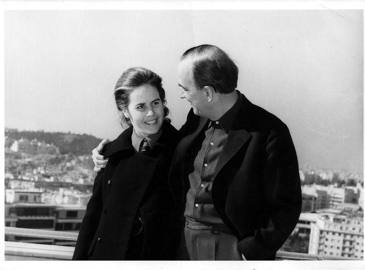 Ingmar Bergman and his wife at the terrace of Galaxy Bar!