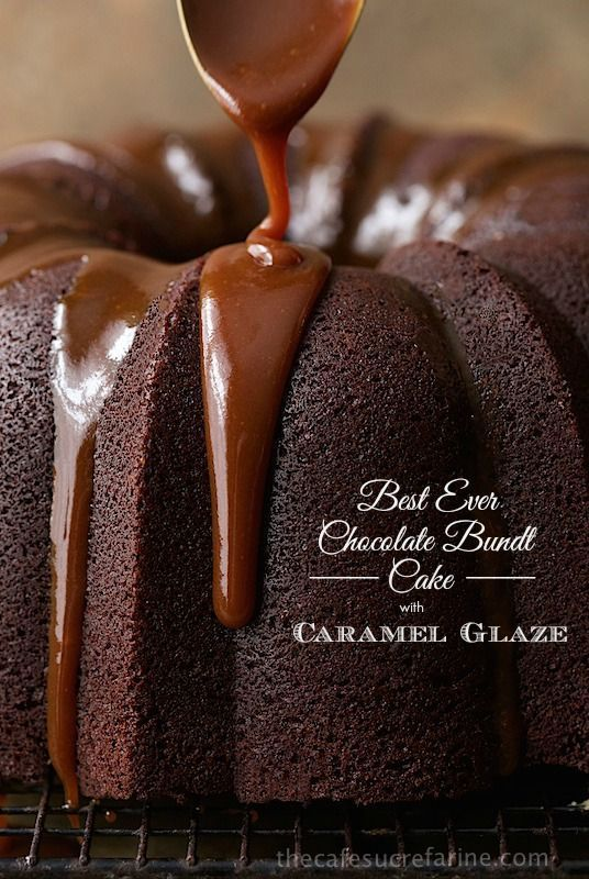 Best Ever Chocolate Bundt Cake With Caramel Glaze Recipe