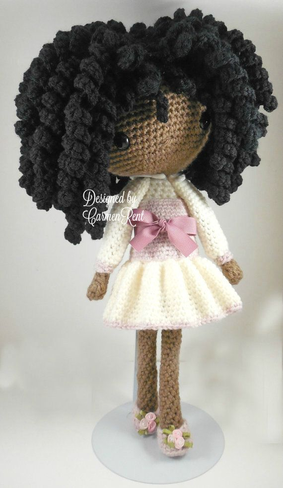 ATTENTION - Keep in mind that this is a crochet pattern in a PDF. This is NOT the finished product. Michelle is approximately 17 inches tall. Also, please keep in mind that this doll cannot stand up on its own. This is a non-refundable purchase. Once the payment has been confirmed you