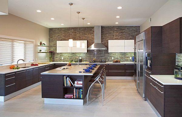 Фото практичной организации освещения кухни
