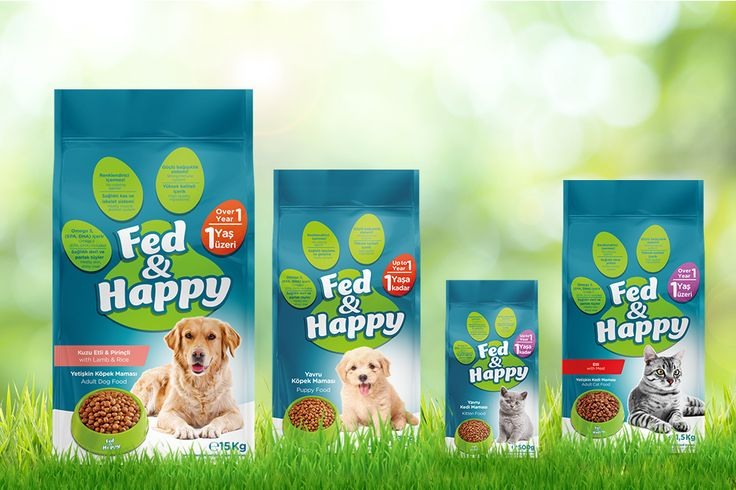 #packaging #design for Fed & Happy brand #petfood by Orhan Irmak Tasarım | Creative Packaging & Design