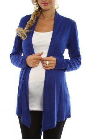 PinkBlush Maternity Royal Blue Maternity Cardigan