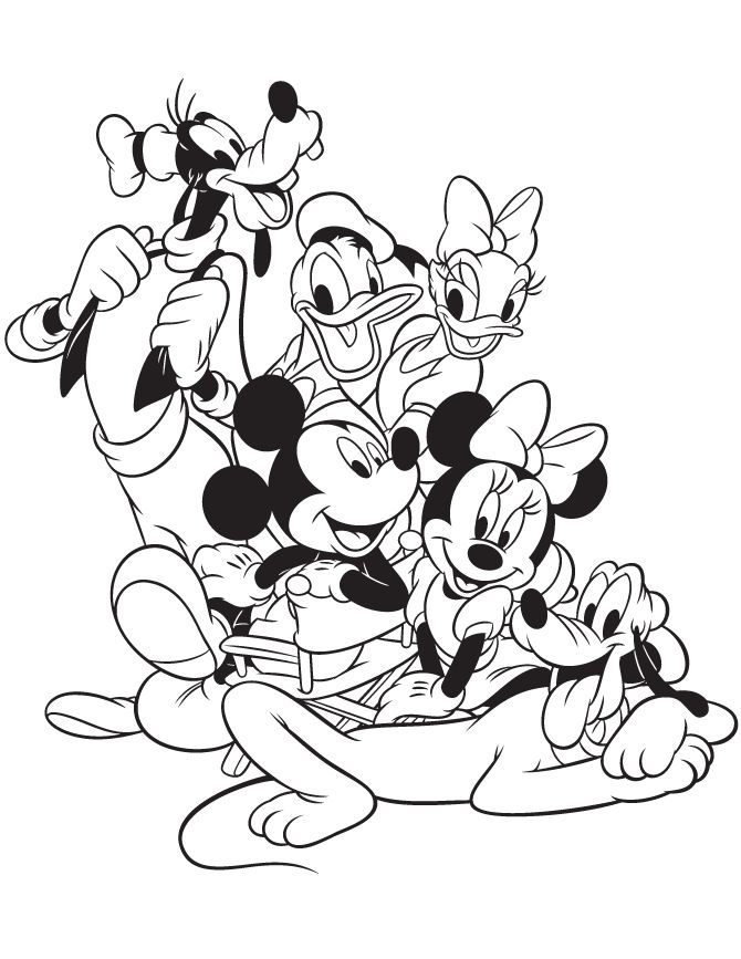 Coloriage mickey et ses amis