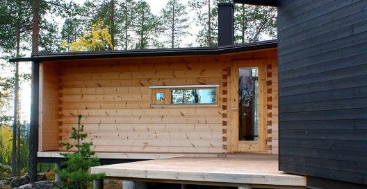 Tarred 45mm Wood Planks  Villa Valtanen by Ark. Louekari