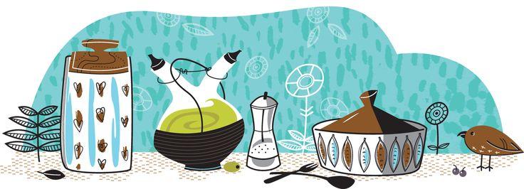 #joannakerr #newdivision #illustration #flatgraphic #line #bird #jars #decorative