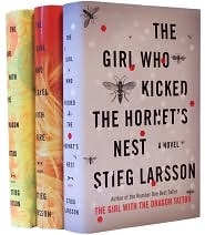 The Girl With the Dragon Tattoo, The Girl Who Played with Fire, and The Girl Who kicked the Hornet's Nest by Stieg Larsson.                  Great series! A little slow in the first few chapters, but worth it if you can get past that.