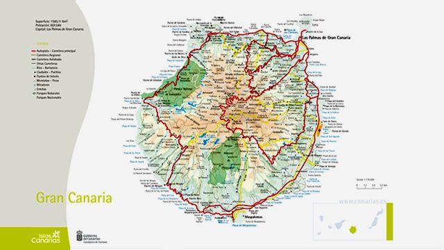Map of Gran Canaria Island
