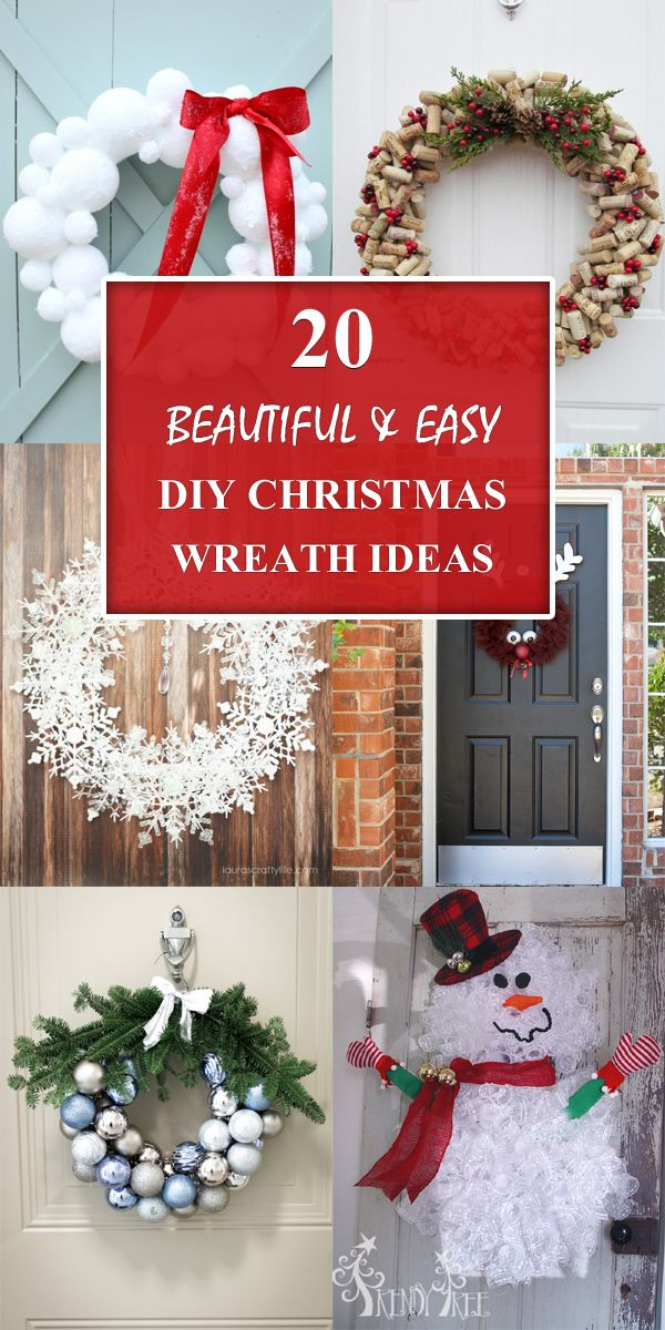 20 Beautiful And Easy Diy Christmas Wreath Ideas Best Christmas