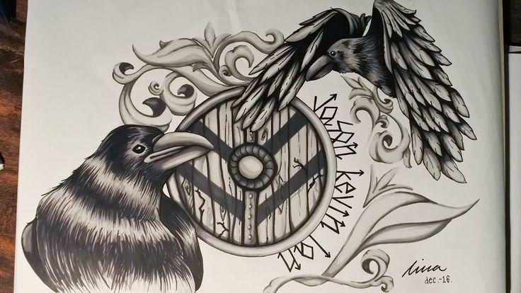 Speed painting - Tattoo art - Viking theme