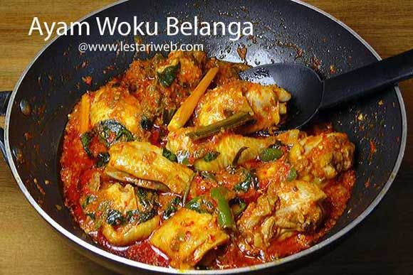 AYAM WOKU BELANGA or MANADONESE SPICY STEWED CHICKEN is a traditional dish from Minahasan people who inhabit North Sulawesi Region. Many Indonesians also call them as Manadonese, refer to the capital city of North Sulawesi province. The Manadonese prefer to extremely hot and spicy food, mostly made from freshly chopped bird chili!! So if you are a chili lover, please feel free to try this recipe ;-)