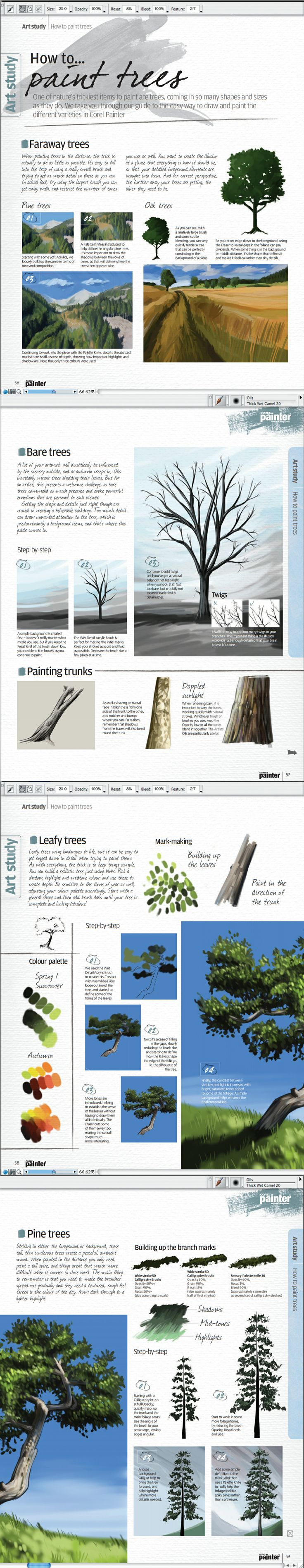 How to Paint Trees - Corel Painter Magazine